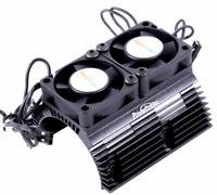 Powerhobby Aluminum Heat Sink W Dual Cooling Fan Black : Arrma INFRACTION