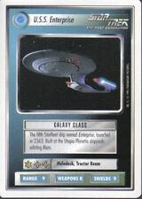 STAR TREK CCG WHITE BORDER PREMIERE 1995 BETA RARE CARD U.S.S. ENTERPRISE