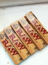 5 Raw Paper pack rizzla King Size Slim Rolling Papers 160 GENUINE fast delivery