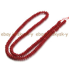 Real Natural 2X4MM Red Coral Tube Spacer Loose Beads Fashion Jewelry Strand 15""
