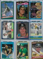 Jose Canseco A's Lot of (27) Different w/ (16) Rookies 1986 Donruss #39 NMint
