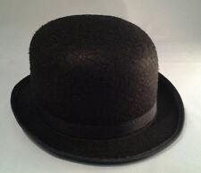 Black Derby Hat Steampunk Bowler Victorian A Clockwork Orange  Adult Size