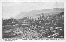 BARNUM & BAILEY CIRCUS FIRE SCHENECTADY NEW YORK POSTCARD (1910)