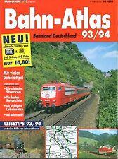 Bahn Special Heft 2/1993 Atlas 93/94 Deutschland Eisenbahn Reiseführer 93/94