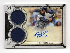 ERIC THAMES MLB 2018 TOPPS MUSEUM COLLECTION SIGNATURE SWATCHES DUAL (BREWERS)