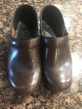 DANSKO Women's SZ 39 8.5~9 Brown Leather Clogs Shoes