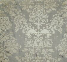 SILK LOOM FORTUNY STYLE VENETIAN PRINTED SILK FABRIC 10 YARDS SILVER TAUPE CREAM