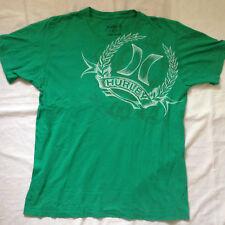 HURLEY ORIGINAL GREEN T-SHIRT W/PRINT LOGO LARGE SIZE