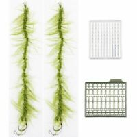 2pcs Carp Fishing Rigs Ready Made Hair Rigs Terminal Tackle Hook Weed Line S8G9