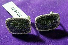 Black Diamond Sterling Silver Earrings