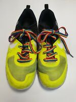 H848 MENS NIKE FLYWIRE YELLOW BLACK LACE UP RUNNING TRAINERS UK 8.5 EU 43 US 9.5
