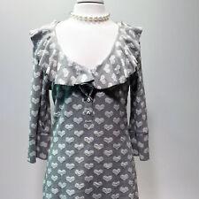 Fine Garments by BELL   Grey Cotton Heart Print Sweater Dress – 12
