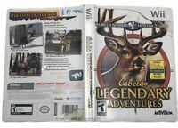 Cabelas Legendary Adventures Nintendo Wii Complete Manual Hunting