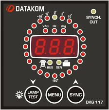 DATAKOM DKG-117 Generator Control Panel with Synchroscope and Check Synch Relay_
