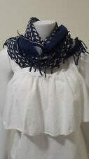 Abercrombie & Fitch Blue Plaid  Moose Scarf Wrap One Size, Square Shape
