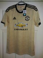 Adidas 2019-20 Manchester United Authentic Away Jersey - Gold