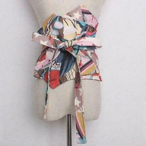 Woma Japanese Floral Obi Belt Skirt Costume Corset Band Kimono Yukata Waistbands