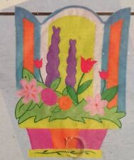 Open For Spring Flowers Applique Mini Window Garden Yard Flag New