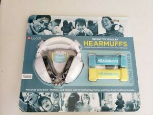 Lucid Audio HearMuffs Bonus Pack: 3 Infant to Toddler Grow Bands 2 AAA batteries