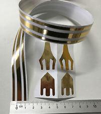 Zierstreifen Pin Stripe Gold Hochglanz 10m X 18mm Incl Anfang ende Chrom