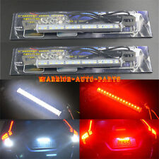 2X Dual-Color 30-SMD LED Lamps White/Red For License Plate,Backup,or Brake Light