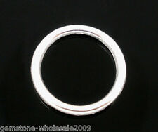 W09 100 PCs SP Soldered Closed Jump Rings 12x1mm Findings
