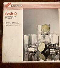 Bormioli Rocco Casino 12 Piece Tumbler Glass Set - New In Box