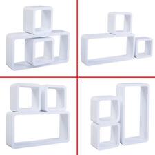 COSTWAY 3PC Floating Wall Shelves Shelf Display Decor Storage White MDF