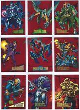 1993 Skybox Marvel Universe IV Red Foil  2099 Insert Chase Set 1-9