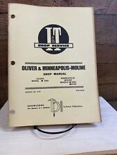 OLIVER Tractor Shop Service I&T Manual 2255 Minneapolis Moline G955 G1355 f 1975