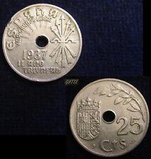 *GUTSE* FRANCO-104, 25 CÉNTIMOS 1937, EBC-