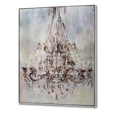 FRAMED METALIC CHANDELIER WALL ART WITH DIAMANTES -   HANG UP ON THE WALL