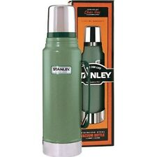Stanley Classic Stainless Steel Thermos Vacuum Bottle 1.1 Quart Hammertone Green