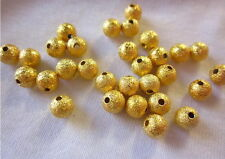 50 Stardust Beads 6mm Gold Coloured #923 Combine Post-See Listing