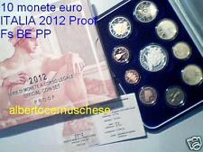 2012 10 monete 10,88 euro Fs BE PP Proof ITALIA Italie Italy Italien 5 € Sistina