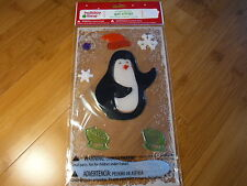 NEW Penguin Window Gel Clings Holiday Decorations Winter Snow Holidays Snow  L52