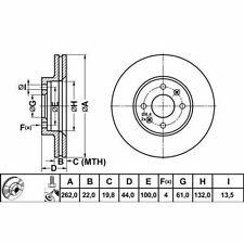 RENAULT MEGANE I CABRIOLET 96-03 FRONT BRAKE DISCS 77 00 802 232 841 563 DSK608