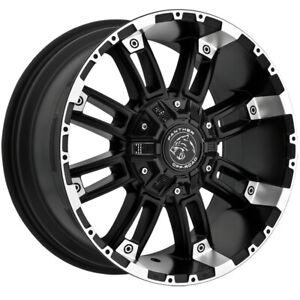 "Panther Offroad 816 20x9 8x170/8x180 +0mm Black/Machined Wheel Rim 20"" Inch"