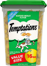 Temptations Mix Ups Crunchy and Soft Cat food Treats Seafood 30-ouce