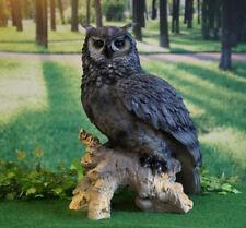 Figur Uhu 57cm Eule Kauz Greifvogel Dekofigur Tierfigur Vogel Garten Deko Skulpt