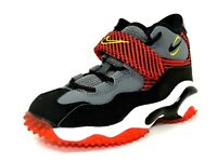 Nike Turf PS 643232 003 Boys Shoes Football Sneakers Leather Black Gray Red