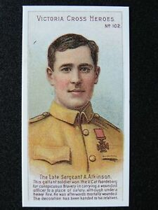 No.102 SEGT A. ATKINSON Victoria Cross Heroes Boer War REPRO by Taddy 1904