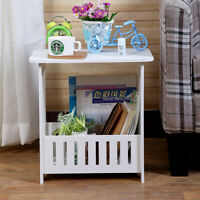 PVC Plastic Oval Mini Coffee Tea Table Home Living Room Storage Rack Bedside