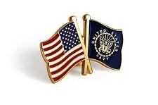 USA / U.S. Navy Crossed Flags - USN Lapel Pin