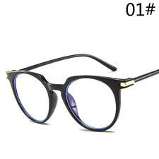 Women Transparent Frame Flat Mirror Glasses Retro Round Lens Vntage Sunglasses