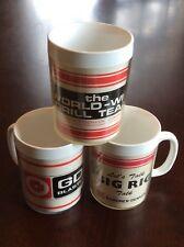 Vintage advertising coffee mugs lot of 3 Gardner Denver drilling rig