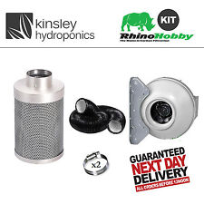 "8 "" / 200mm L1 Rhino hobby filtre rvk fan 5m Kit conduit Clips combi hydroponics"