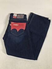 Levi's Levi Strauss Type 1 Jeans True Boot Cut Dk Blue Denim Men's 29W x 30I NWT
