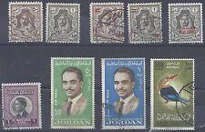 JORDAN 1946 64 HIGH VALUES INCLUDING 6 DINAR STAMP LIGHTLY USED SG 242 3 332 333