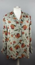 Ladies Floral Chiffon Blouse Shirt by Nightingales Size 16 Top